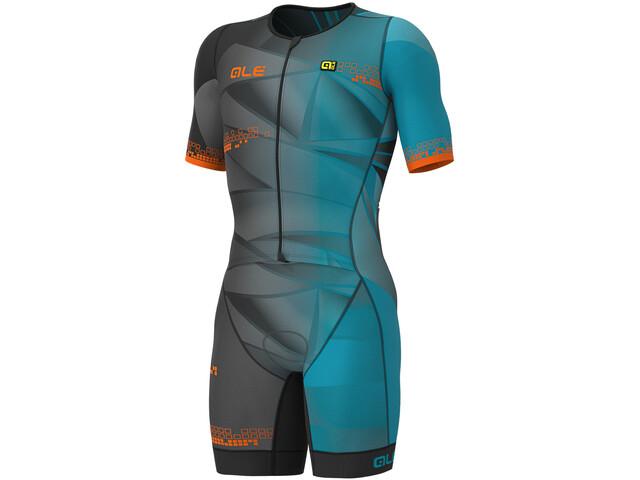 Alé Cycling Triathlon Hawaii SS Unitard Herrer, ottanio blue
